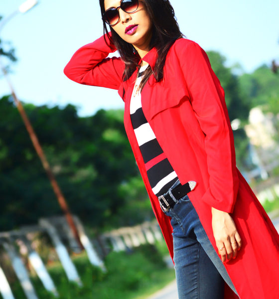 Red Hot Trench Coat!