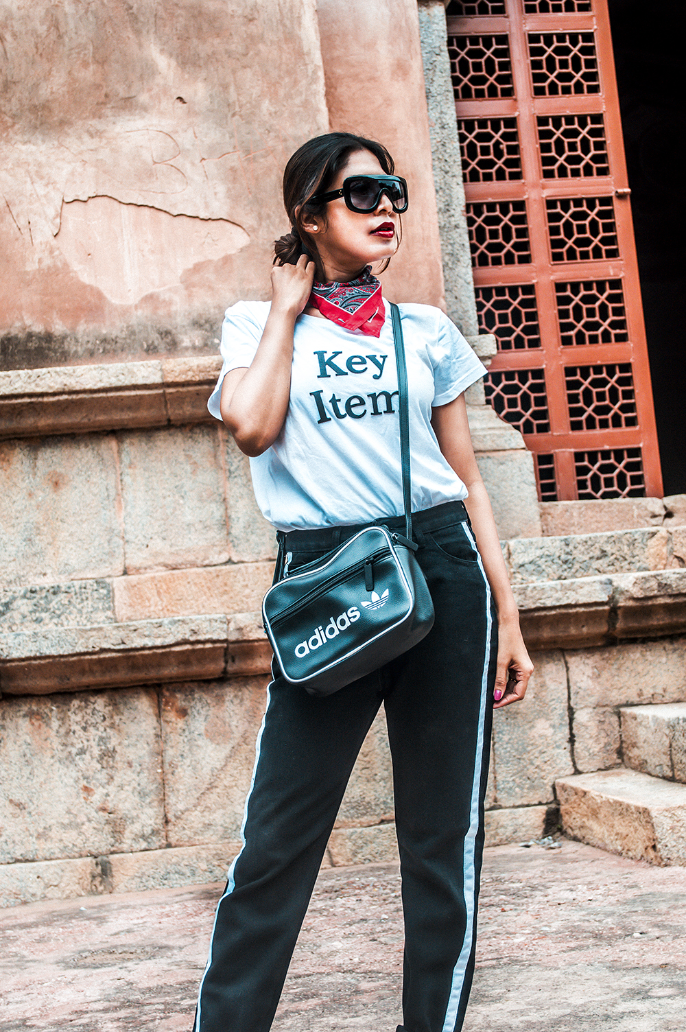 Sporty Denim Look, Black Denim, Style Over Coffee, Sporty Denim, Hauz Khas Village, Sarmistha Goswami, Fashion Blogger, Hauz Khas Fort-2