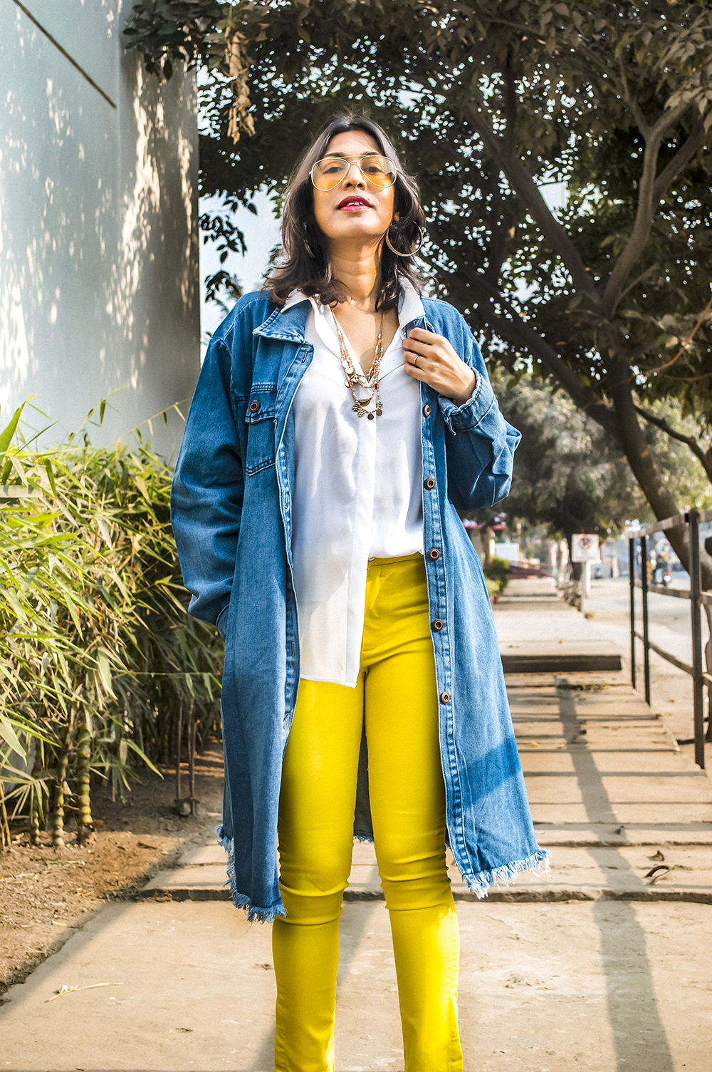 2021, Fashion, Style, Fashion Blogger, Indian Influencer, Beauty, Styling Tips, Yellow Pants, Denim-1